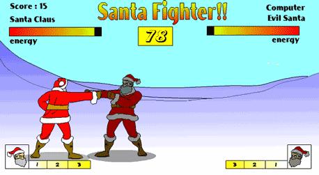 Juego de lucha contra Santa Claus fighter
