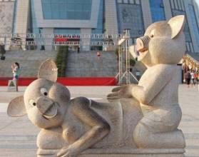 escultura de cerdos